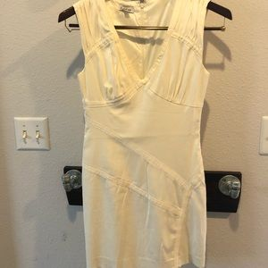 Cream Bebe sleeveless mini dress